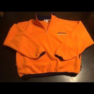 Vtg Nautica Competition Fleece Pullover Size Small